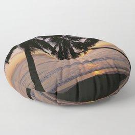 Tropical sunset, Mahe island, the Seychelles Floor Pillow