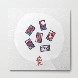 Playing Card Game / Hanafuda (花札) Metal Print