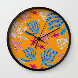 Coral Life - Lively Orange Wall Clock