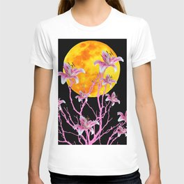 PINK ASIATIC STAR LILIES MOON FANTASY T-shirt