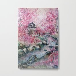 Cherry blossom (Watercolor painting) Metal Print