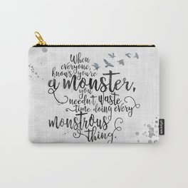 Six of Crows - Monster - White Carry-All Pouch