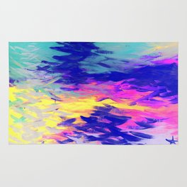 Neon Mimosa Inspired Painting Rug