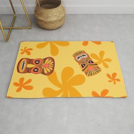Retro Summer Tiki Room Rug