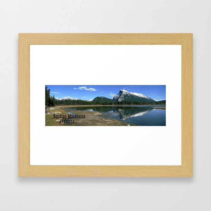 Mount Rundle Alberta Canada Framed Art Print