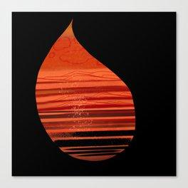 Warm Raindrops Canvas Print