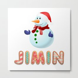 BTS member Jimin: Happy Christmas! Metal Print