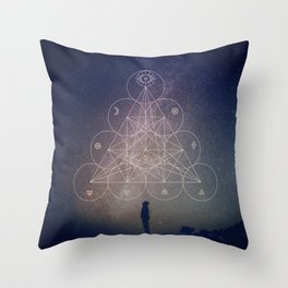 Alchemical Tetractys Throw Pillow