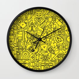 Pictogrammaton: 100 days 100 pictograms Wall Clock