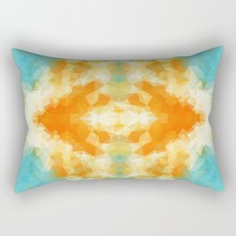 """Poncho mood"" triangles design Rectangular Pillow"