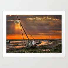 Low Tide at Heswall Art Print