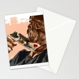 Lonely Painter Illustration Stationery Cards