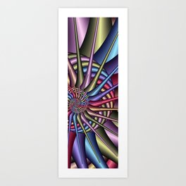 spirals and colors -01- Art Print