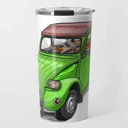 Green 2CV Travel Mug