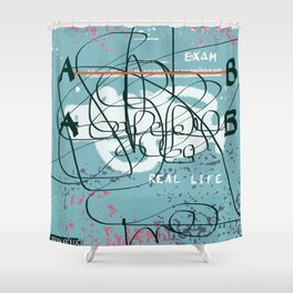 Straight A's Shower Curtain