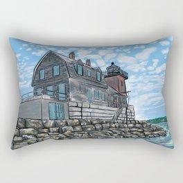 Breakwater Lighthouse Rectangular Pillow