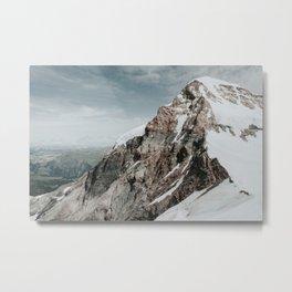 Switzerland Photo | Adventure Photography | Switzerland Mountain Peaks Metal Print