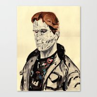 terminator Canvas Prints featuring Terminator by withapencilinhand