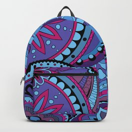 Pattern with violet mandalas Backpack
