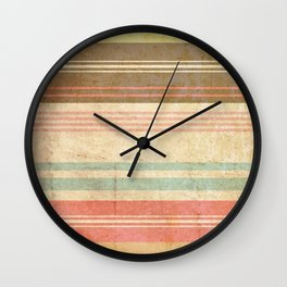 pattern grundgy stripes Wall Clock