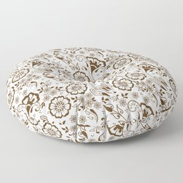 Mehndi or Henna Florals Floor Pillow