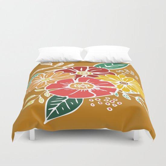 Abstract #369 Flower Power #9 Duvet Cover