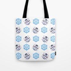 C1.3D Snowmoji Tote Bag