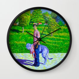 Portrait of Phil and Daniel Wall Clock