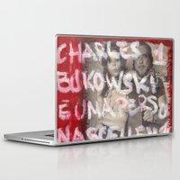 bukowski Laptop & iPad Skins featuring Bukowski by Ibbanez
