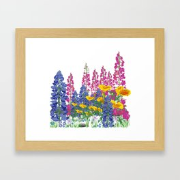 Mountain Wildflowers Framed Art Print