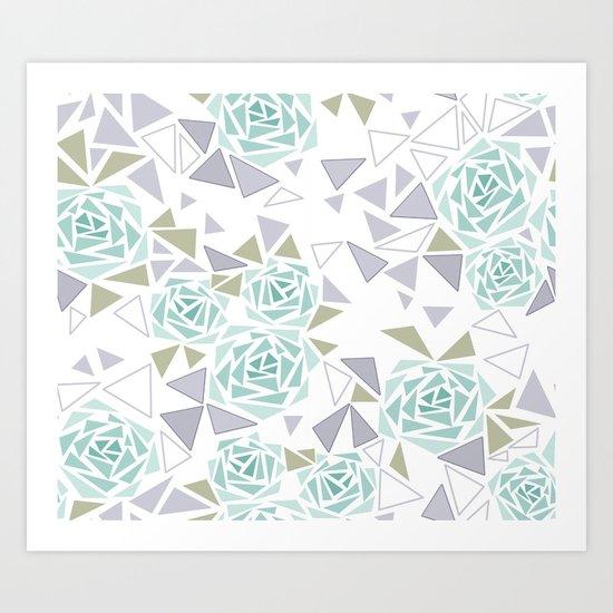 Modern . Geometric pattern . Rose .2 Art Print