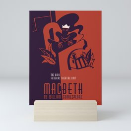 Retro Macbeth William Shakespeare Mini Art Print
