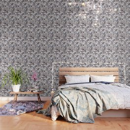 Triangle Pattern no.22 grays Wallpaper