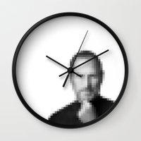 steve jobs Wall Clocks featuring Steve jobs by Angelina Fenty