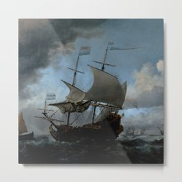 "Willem van de Velde ""The Dutch Fleet Assembling"" Metal Print"