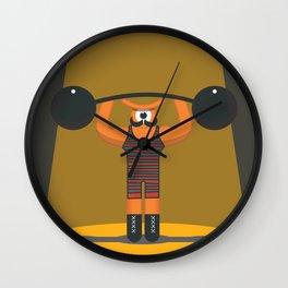 strong eye Wall Clock