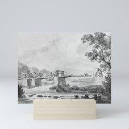 The Falls of the Schuylkill and Chain Bridge Mini Art Print