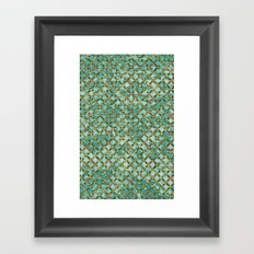 Between Crooked Sheets Framed Art Print