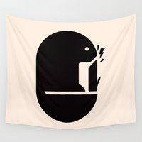 beaver Wall Tapestries featuring Busy Beaver by Mortar Made
