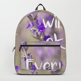 Everything will be Okay - Botanical Photography and Quote #Society6 Backpack