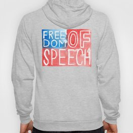 Freedom of Speech - Watercolor Flag Hoody