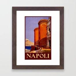 Napoli - Naples Italy Vintage Travel Framed Art Print