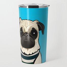 Doug the Pug - Blue BG Travel Mug
