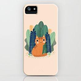 Orange Garden Cat iPhone Case