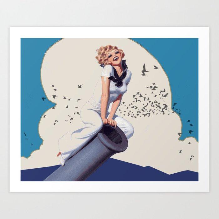 Powergirl Art Print