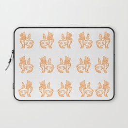 Orange Burmese Lion Laptop Sleeve
