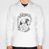 vikings Hoodies featuring Vikings by Christiano Mere