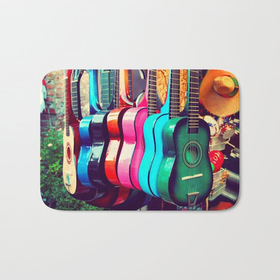 las guitarras. spanish guitars, Los Angeles photograph Bath Mat