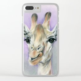 Giraffe Portrait with Beautiful Eyes Clear iPhone Case