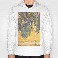 birch Hoodies featuring Birch 3 by Eugene Frost